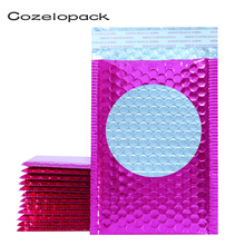 10PCS Metallic Bubble Mailers Pink Foil Bubble Bags Aluminized Postal Bags Wedding bags Gift Packaging Padded Shipping Envelopes