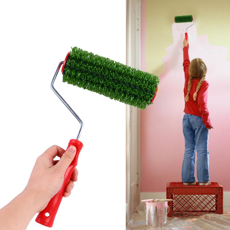 4 Style Imitation Wood Grain Paint Roller Brush Wall Painting Tool Sets Wall Texture Art Painting Tool