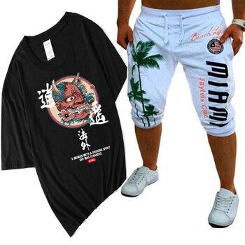 цена на Hip Hop T Shirt Men Japan Devil T-shirt Harajuku Tshirt Streetwear Casual Short Sleeve Summer Tops 2019 Cool Black T Shirt Boys