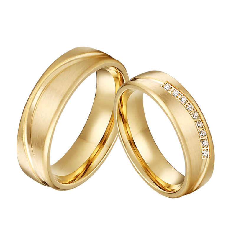 Handmade Love Alliances Promise Wedding Band Engagement Rings For Couples Men And Women Gold Color 2020 Latest Design Rings For Women Couple Ringsring For Aliexpress