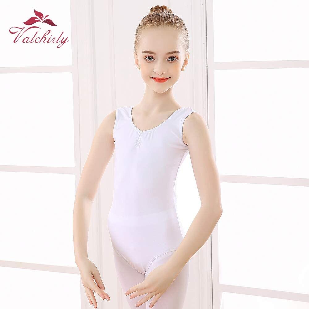 Для девочек без Рукавов трико для балета и танцев с v образным вырезом Хлопок Танк Дети танец гимнастика балерина мастерство костюм|Балет|   | АлиЭкспресс