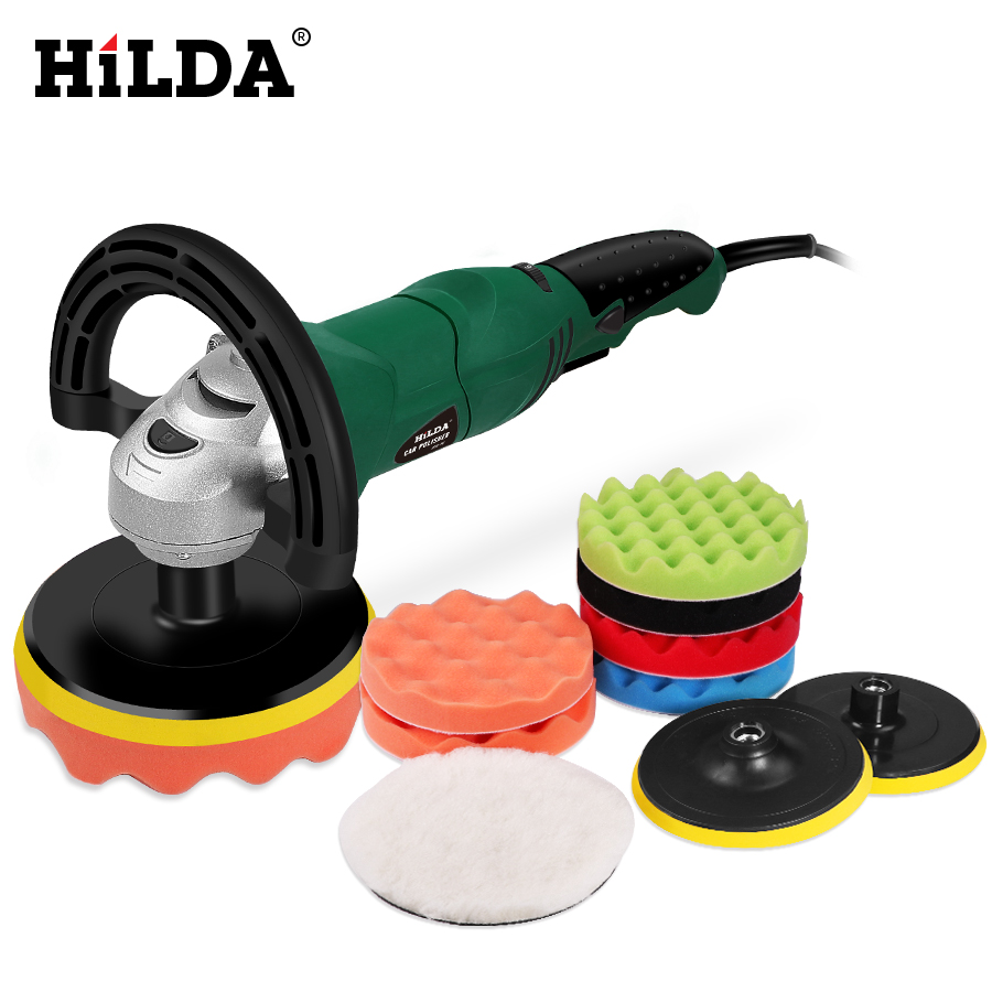 HILDA 1200W Auto Polishing Machine  Car Polishing Machine Sander M14 Electric Floor Polisher 150mm Polishing Pad