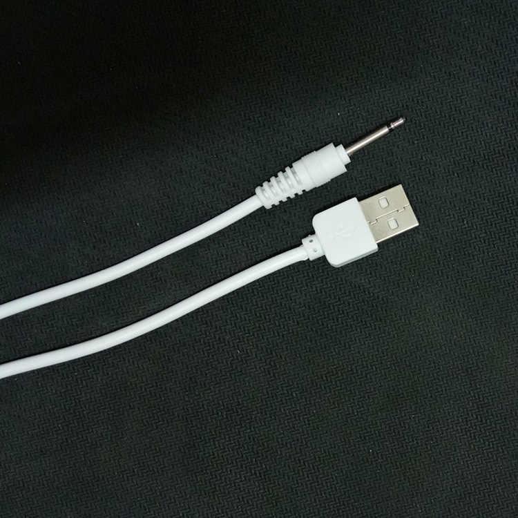 USB güç kaynağı şarj cihazı DC vibratör kablosu için seks ürünleri vibratörler yapay penis Masturbator şarj edilebilir yetişkin oyuncaklar şarj kablosu