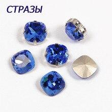 CTPA3bI 4470 Beads Cushion Cut 206 Blue Fancy Stone Crystal Charming rhinestones for DIY jewelry making Decoration Garment bead стабилизатор изображения gopro karma grip agimb 004