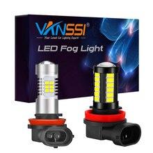 Vanssi 2Pcs H8 H11 Led Fog Gloeilampen 6000K Wit HB4 9006 H10 9145 H16 Led Lampen Auto lamp 1 Jaar Garantie