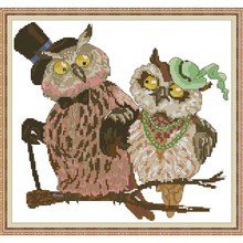Joy Sunday,Owl,cross stitch embroidery,Cartoon cross pattern,cross needlework,Animal pattern kit