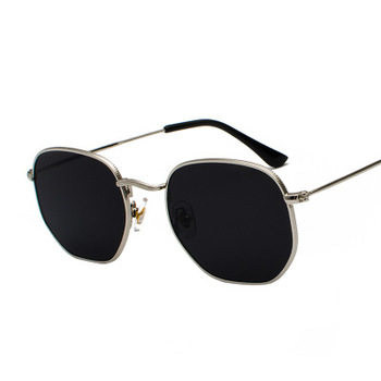 2020 Men Hexagon Sunglases Women Brand  Driving Shades Male Sunglasses For Men's Glasses Gafas De sol UV400 - Silver Gray