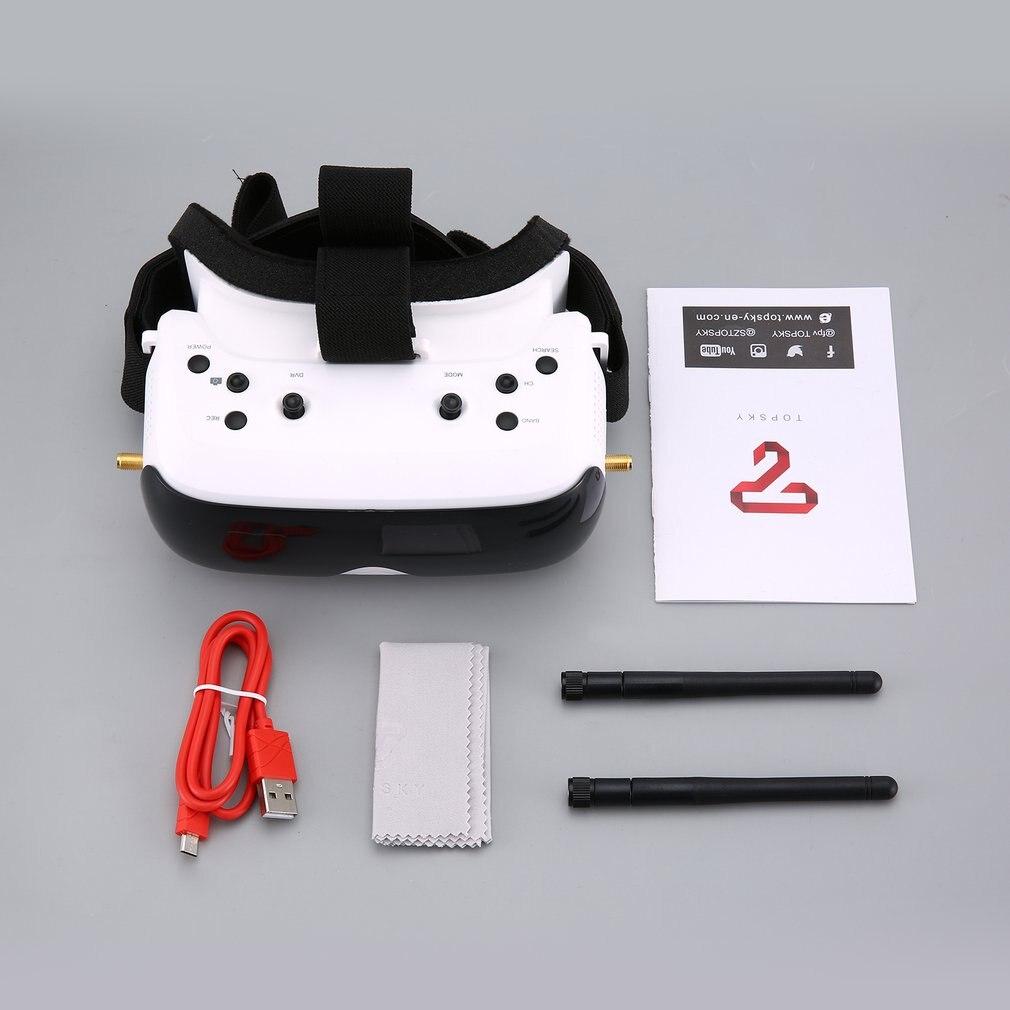 TOPSKY PRIME 1s FPV lunettes/montre 5.8G 86 degrés FOV 640x480 LCD 4:3 2.4 pouces NTSC/PAL lunettes avertissement de batterie faible DVR lunettes