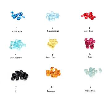 Floating charms 2.8-3.0mm bling sparking round birthstone 14 colors 280pcs/lot for glass living locket