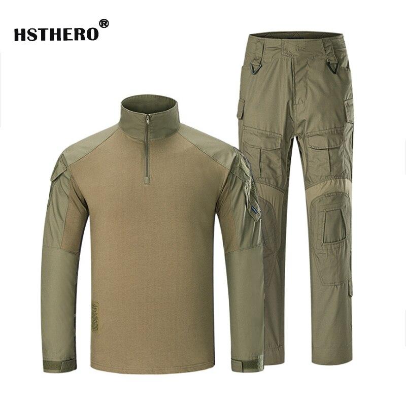 Klassieke Tactische Militaire Uniform Pak Mannen Leger Camouflage Paintball Pak Set Airsoft Paintball Multicam Cargo Shirt Met Broek
