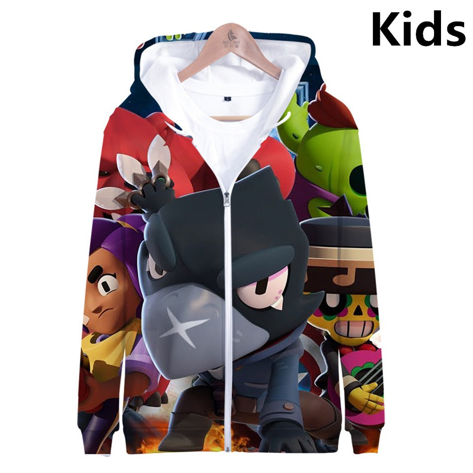 2 To 13 Years Kids Hoodies Shooting Game 3D Printed Zipper Hoodie Boys Girls Long Sleeve Sweatshirt Cartoon Game Jacket Clothes
