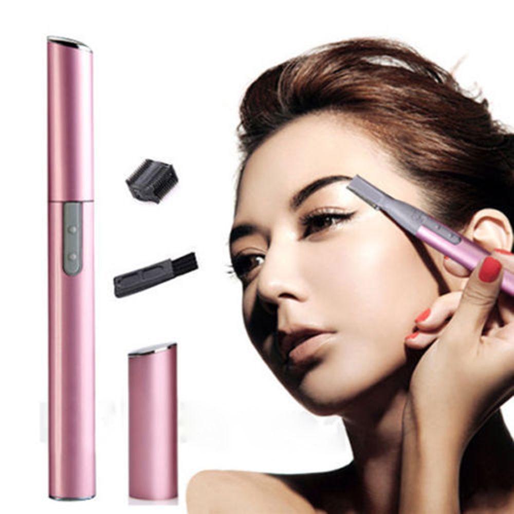 Hot 2 Colors Practical Electric Face Eyebrow Scissors Hair Trimmer Mini Portable Women Body Shaver Remover Blade Razor Epilator