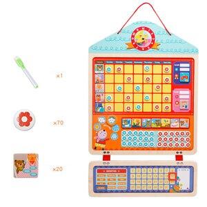 Image 3 - Tableau dactivité de récompense magnétique en bois, calendrier de responsabilités, jouets éducatifs pour enfants, calendrier de responsabilités, jouets