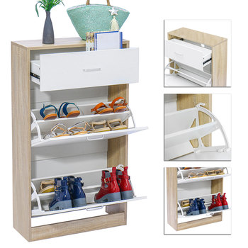 Fashion Shoe Cabinets Simple Economical Household Multi-function Multi-storey Assembly Dormitory Entrance Space 16 Pairs