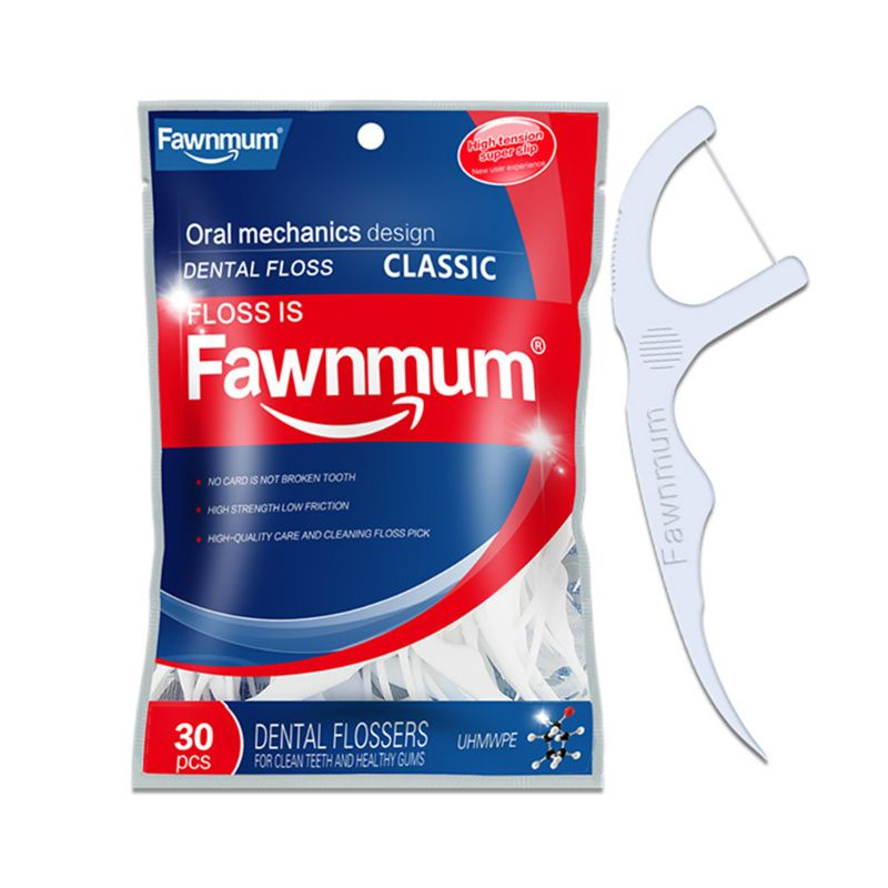 30pcs Dental Floss Flosser Brush Tooth Picks Oral Care Teethpick T4MB