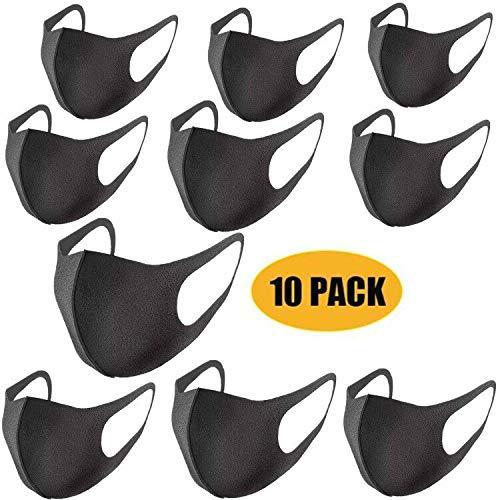 5pcs/10pcs Thin Face Sponge Mask Washable Breathable Reusable Windproof Dust-Resistant Large Inventory Fast Delivery For Adults