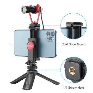 Image 2 - ULANZI 360 גמיש טלפון חצובה הר מחזיק קלאמפ עם קר נעל עבור iPhone סמסונג DSLR מצלמה ניטור