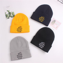 Корейский стиль, простая, с надписью, анти шерсть, шапка, COUPLE'S, теплая, толстая, вязаная шапка, осень и зима, пуловер, свернутая шапка, Мужская