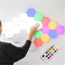 Modern LED Night Creative Lights Art Honeycomb Modular Assembly Helios Touch Lamp Quantum Magnetic Lighting Luminaria