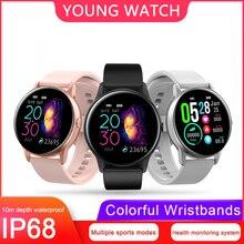 KSUN KSR905 Smart uhr IP68 wasserdicht Gehärtetes glas Aktivität Fitness tracker Heart rate monitor Sport Männer frauen smartwatch