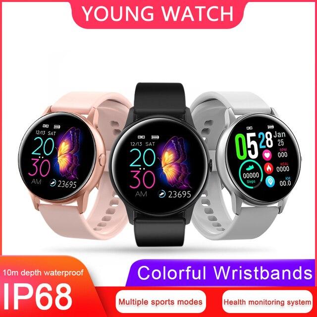 KSUN KSR905 inteligentny zegarek IP68 wodoodporne szkło hartowane monitor aktywności fizycznej pulsometr sport mężczyźni kobiety smartwatch