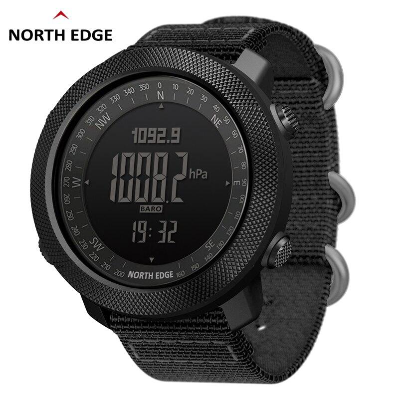 NORTH EDGE мужские спортивные часы альтиметр барометр компас термометр шагомер Мировое время часы цифровой бег туристические часы