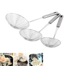 Ovale Skimmer Rvs Filter Olie Pot Voedsel Filter Kookgerei Vergiet Gebakken Filter Keuken Zeef Bakken Koken Tools cheap EH-LIFE Cn (Oorsprong) Milieuvriendelijk Vergieten Strainers STAINLESS STEEL 481778 CE EU kitchen tools Baking tools