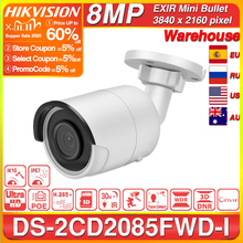Hikvision Original 8MP IP Camera DS 2CD2085FWD I Bullet Network CCTV Camera Updateable POE WDR POE SD Card Slot OEM