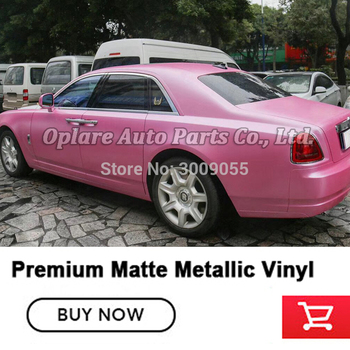 Best Quality conch pink matte Metallic Vinyl Wrap Film For High-end car Bubble Free low initial tack adhesive