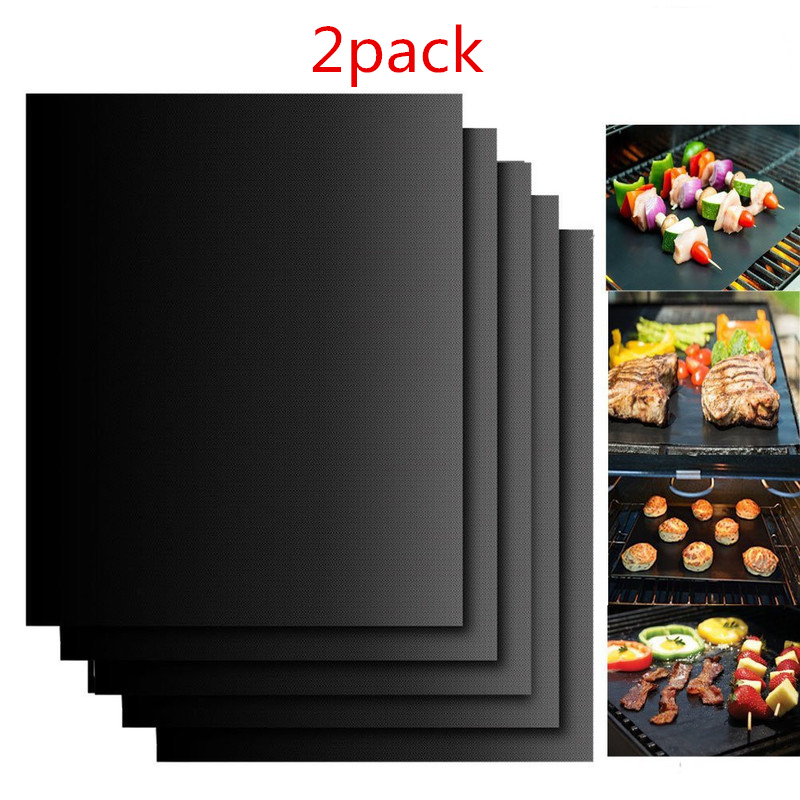 Kitchen Accessories Non-stick BBQ Grill Mat 33cm*40cm Baking Mat Cooking Kitchen Tools Reusable Easily Cleaned Kitchen Gadgets