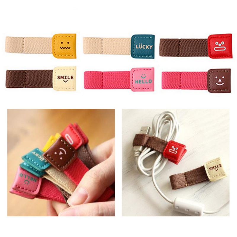 Winder Cable Organizer Wire Wrapped Cord Line Storage Holder for iPhone Samsung Earphone MP4 High Quality Cartoon 2 pcs