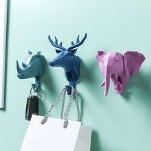 Настенный крючок 3d крючки для головы животных крепкий из вискозы