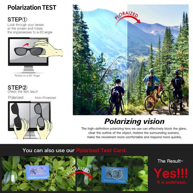 Queshark 2020 nova polarizada óculos de ciclismo para homem mulher bicicleta óculos ciclismo óculos de sol 3 lente espelhada uv400 mtb qe48 6