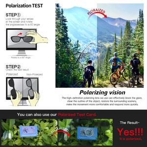 Image 5 - Queshark 2020新偏極サイクリング男女性バイク眼鏡サイクリングサングラス3レンズミラーUV400ゴーグルmtb QE48