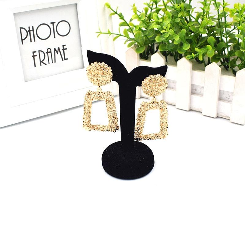 Korean Fashion Earrings 2020 Women's Large Geometric Round Earrings Dangle Earrings Dangling Earrings Modern Female Jewelry  - buy with discount