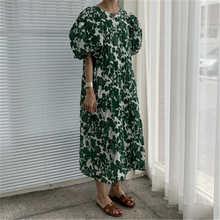 Женское винтажное свободное Макси платье rugod с круглым вырезом