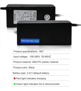Image 2 - 48V 2A LiFePO4 battery Charger output 58.4V 2A 100 240VAC DC Port Used for 48V 10AH 12AH 15AH Electric bike battery LFP battery