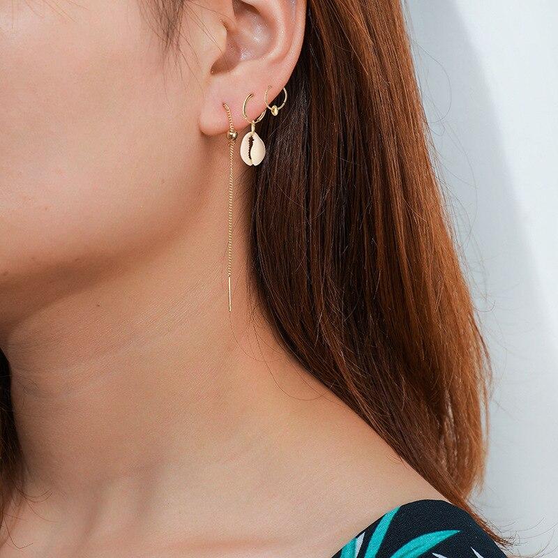 New Elegant Shell Alloy Drop Earrings ZA Cute Chic Statement Dangle Earrings For Women Wedding Party Jewelry Gifts Jewelry in Drop Earrings from Jewelry Accessories