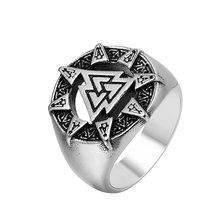 Модные скандинавские парные кольца викингов с треугольниками
