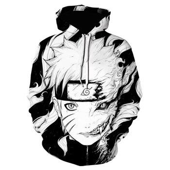 Autumn Hot Sale Uzumaki Naruto 3d Printing Mens And Womens Hoodie Fashion Childrens Cartoon Sweatshirt Harajuku Style Pullove