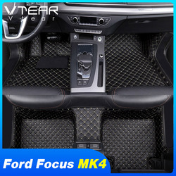 Vtear For Ford Focus MK4 floor mats car leather foot carpet cover waterproof pads rugs interior accessories 2019