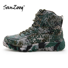 Waterproof Outdoor Men Woodland Shoes Military Tactical Boot