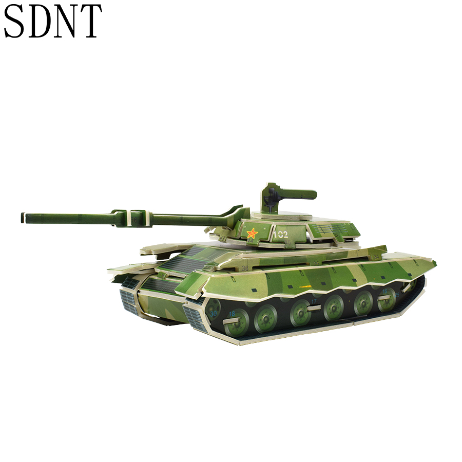 Tank Model 3D Puzzles Toys For Boy DIY Kids Educational Games Armored Car Handmade Assembly Model Kits Toy For Children Gifts