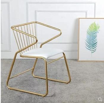 Nordic kute złote krzesła osobowość twórcza krzesła do jadalni krzesła rekreacyjne opatrunek krzesła do paznokci oparcie krzesła designerskie tanie i dobre opinie Andessoer CN (pochodzenie) Salon mebli Stół paznokci Meble sklepowe