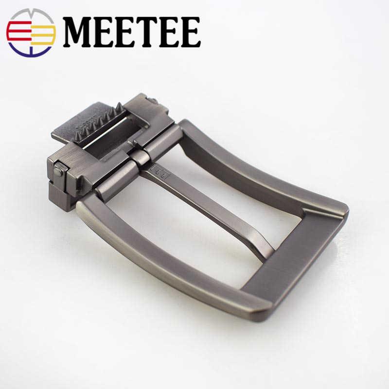 Meetee 40 มม.เข็มขัดหัวเข็มขัดผู้ชายคลิปโลหะหัวเข็มขัด DIY หนัง CRAFT กางเกงยีนส์อุปกรณ์เสริมสำหรับ 3.8 ซม.-กว้าง 3.9 ซม.เข็มขัด AP034