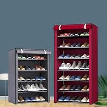 Multi-camada simples armário de sapato diy montado espaço-economia sapato organizador prateleira casa dormitório armário de armazenamento à prova de poeira sapatos rack