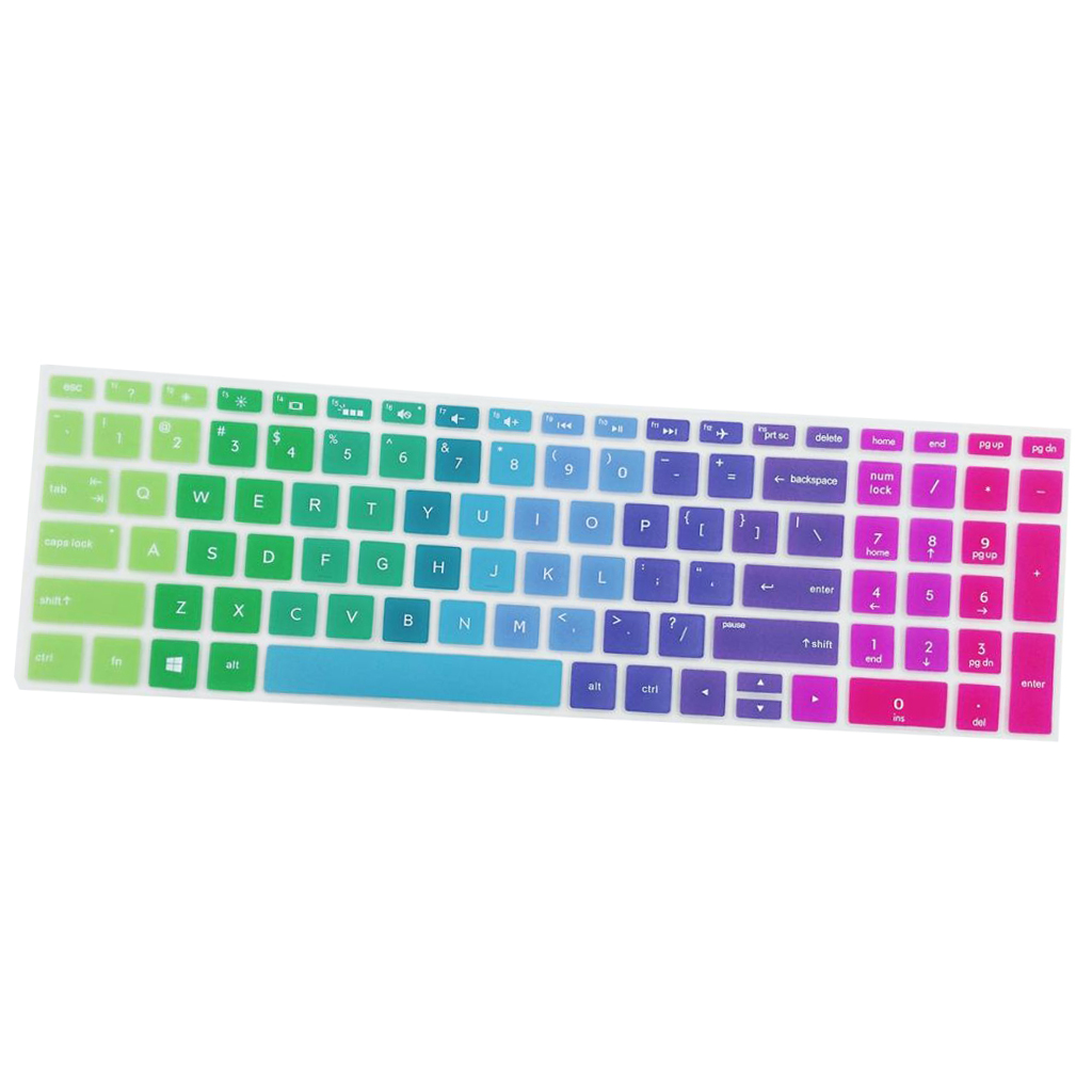 Hight Quality Notebook Keyboard Stickers Skin Cover Keycaps for HP 15.6''BF Laptop soft Silicone-0