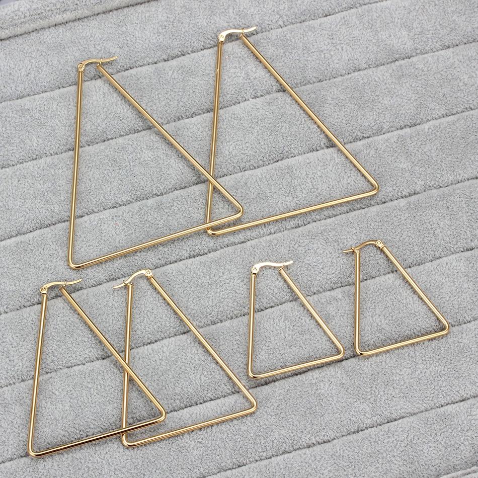 EVA – Large Stainless Steel Triangle Hoop Earrings Earrings Hoop Earrings 8d255f28538fbae46aeae7: 1790 Gold 40mm|1790 Gold 61mm|1790 Gold 79mm|1791 Gold 37mm|1791 Gold 51mm|1791 Gold 70mm