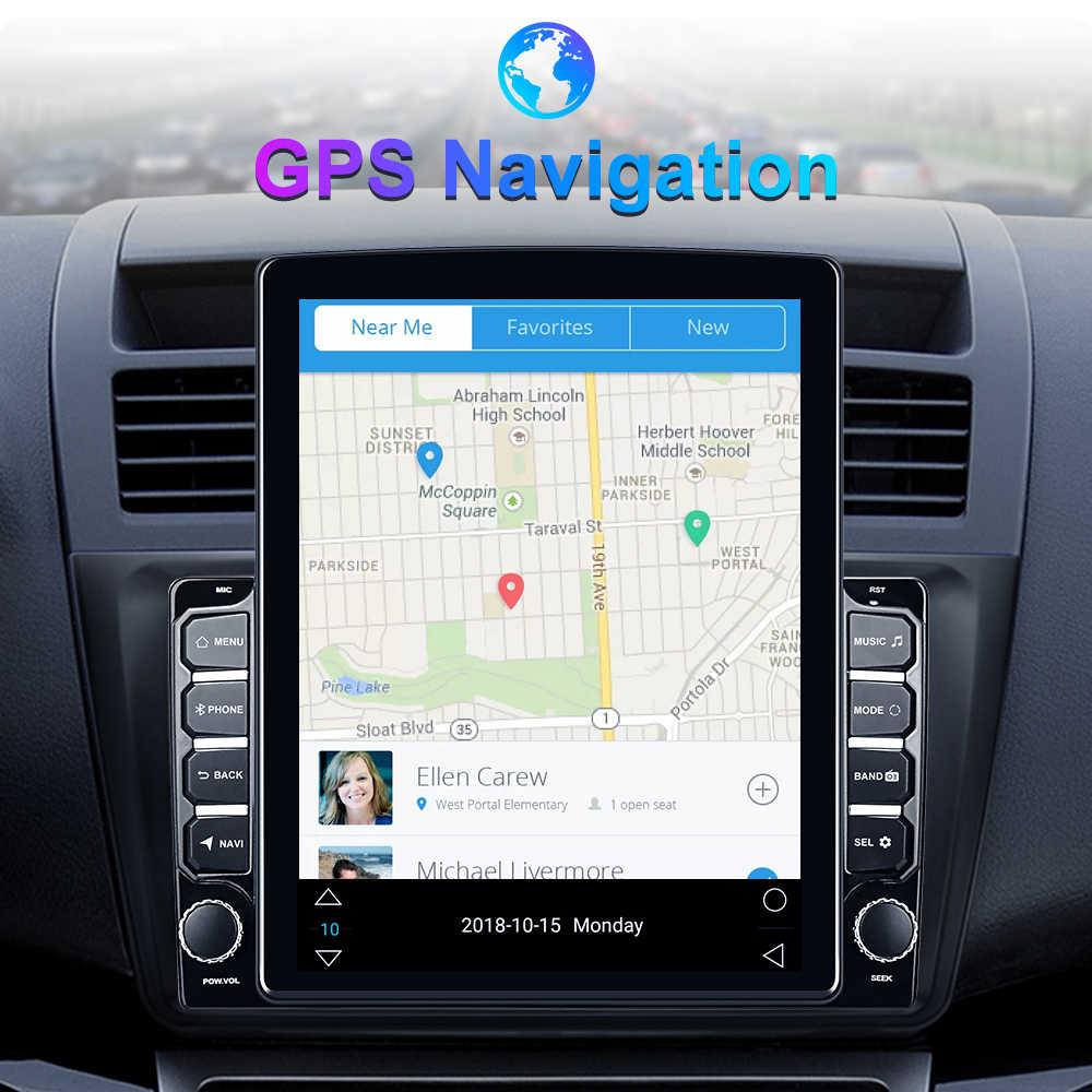 "Leekooluu 2Din Auto Radio 9.7 ""Tesla Stijl Verticale Android Multimedia Player Gps Navigatie Voor Vw Skoda Ford Kia Hyundai toyota"