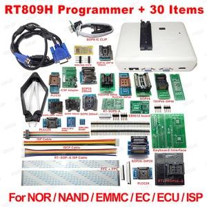 Image 1 - RT809H אוניברסלי EMMC Nand פלאש מתכנת + 30 מתאמים + TSOP48 מתאם + TSOP56 מתאם + SOP8 מבחן קליפ עם CABELS משלוח ספינה